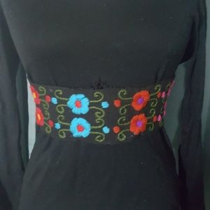 Mexican embroidered belt